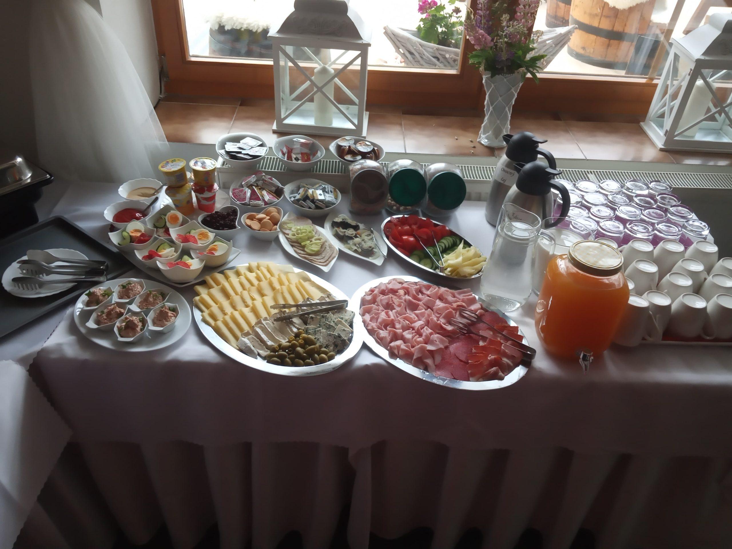Raňajky formou bufetu